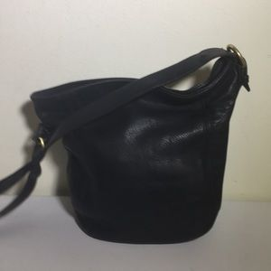 VTG coach Black leather bucket bag
